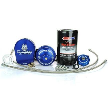 Sinister Diesel External Oil Filter System for Ford