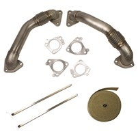 BD Diesel Duramax Up Pipes - 01-15 GM Duramax 6.6L - 1043800