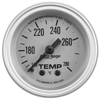 Autometer Auto Gage Series - Silver - Water Temperature Gauge (2-1/16 Mechanical) - 2335