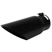 Flo Pro 45 Deg Angle Cut - Black Ceramic Coated Exhaust Tip - 4