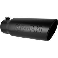 Flo Pro Stamped Logo - Bolt On Exhaust Tips