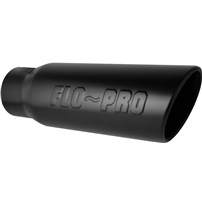 Flo Pro Stamped Logo - Clamp/Weld On Exhaust Tips
