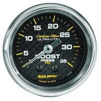 Auto Meter Carbon Fiber Series - Boost Gauge 2-1/16