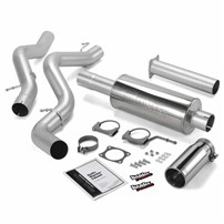 Banks Power - Monster Exhaust - 06-07 Chevy/GMC LLY, LBZ | Std cab, long bed | Cat converter - 48937