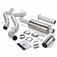 Banks Power - Monster Exhaust - 06-07 Chevy/GMC LLY, LBZ | Ext cab, long bed | Cat converter - 48940
