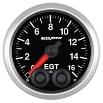 Auto Meter Elite Series - Pyrometer/EGT Gauge 0-1600 deg 2-1/16