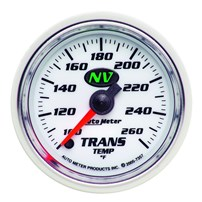Auto Meter NV Series - Transmission Temperature Gauge 2-1/16 electrical full sweep 100 -260°F - 7357