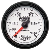 Auto Meter Phantom II Series - Fuel Pressure Gauge 2-1/16