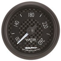 Auto Meter GT Series - Water Temperature Full Sweep Electric SIZE: 2 1/16