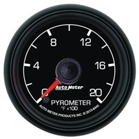 Auto Meter Ford Factory Match - Pyrometer Gauge 0-2000°, Full Sweep Electric, 0-2000F, 2-1/16