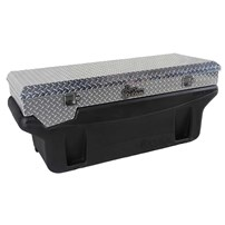 Titan Fuel Tank - Compact Locking, Bright Aluminum Diamond Plate, Toolbox - Universal - 9901170