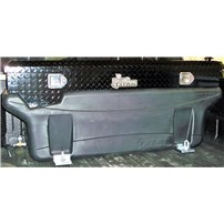 Titan Fuel Tank - Compact Locking, Black Aluminum Diamond Plate, Toolbox - Universal - 9901180