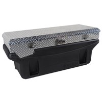 Titan Fuel Tank - Large Locking, Bright Aluminum Diamond Plate, Toolbox - Universal - 9991150