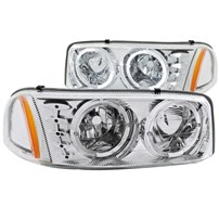 Anzo Euro Chrome Headlights w/Halo - 00-07 GM Sierra Classic - 111208