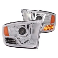 Anzo Projector Headlight w/U-Bar (Chrome) - 10-14 Dodge Ram - 111269