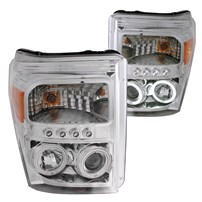 Anzo Chrome Projector Headlights - 11-15 Ford Super Duty - 111272