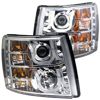 Anzo Projector Headlights w/U-Bar (Chrome) - 07.5-14 Chevy Silverado - 111282