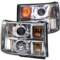 Anzo Projector Headlights w/U-Bar (Chrome) - 07.5-14 GMC Sierra - 111283