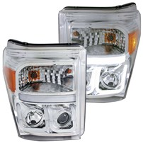 Anzo Projector Headlight w/U-Bar (Chrome) - 11-15 Ford Super Duty - 111291