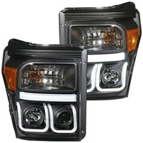 Anzo Projector Headlight w/U-Bar (Black) - 11-15 Ford Super Duty - 111292