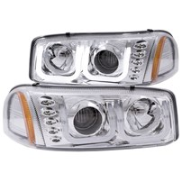 Anzo Projector Headlights w/U-Bar (Chrome) - 00-07 GMC Sierra - 111304