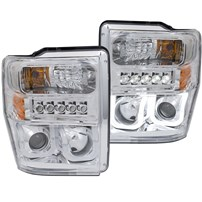 Anzo Projector Headlight w/U-Bar (Chrome) - 08-10 Ford Super Duty - 111306