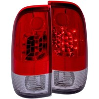 Anzo Red/Clear LED Tail Lights - 99-07 Ford F250/350 - 311025
