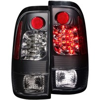 Anzo Black LED Tail Lights - 99-07 Ford F250/350 - 311027