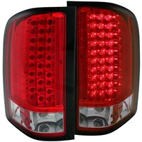 Anzo Red LED Tail Lights - 07.5-14 Chevy Silverado - 311047