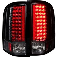Anzo Black LED Tail Lights - 07.5-14 Chevy Silverado - 311081