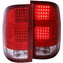 Anzo Red LED Tail Lights - 07.5-14 GMC Sierra - 311089