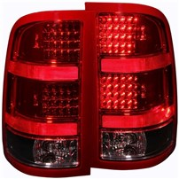 Anzo Red/Black LED Tail Lights - 07.5-14 GMC Sierra - 311090