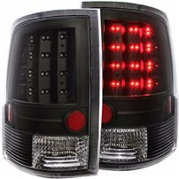 Anzo Black LED Tail Lights - 10-14 Dodge Ram (Fits non-LED models) - 311144
