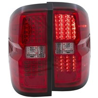 Anzo Red LED Tail Lights - 2015 Chevy Silverado - 311213