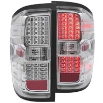 Anzo Chrome LED Tail Lights - 2015 Chevy Silverado - 311214