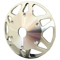 Beans Diesel Billet Fan Pulley - w/Center Hole For Factory Setup AFT - 03-18 Dodge Cummins