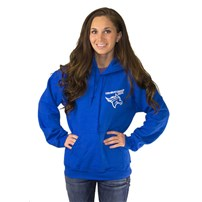Thoroughbred Diesel Blue Hoodie, Small Left Chest Logo