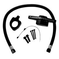 Fleece Performance Coolant Bypass Kit (Coolant Hose Braiding - Black Nylon) - 98.5-02 Dodge Cummins VP - CLNTBYPS-CUMMINS-VP