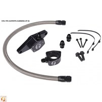 Fleece Performance Coolant Bypass Kit (Coolant Hose Braiding - Stainless Steel) - 98.5-02 Dodge Cummins VP - CLNTBYPS-CUMMINS-VP-SS