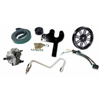 Fleece 5.9L Cummins Dual Pump Kit w/CP3K - Black Pulley - 03-07 Dodge Cummins