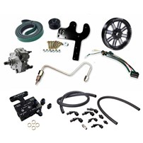 Fleece 5.9L Cummins Deluxe Dual Pump Kit w/CP3K - Black Pulley - 03-07 Dodge Cummins