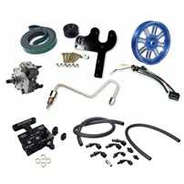 Fleece 5.9L Cummins Deluxe Dual Pump Kit w/ PowerFlo 750 - Blue Pulley - 03-07 Dodge Cummins