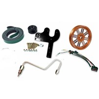Fleece 5.9L Cummins Dual Pump Kit w/o Pump - Orange Pulley - 03-07 Dodge Cummins