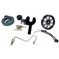 Fleece 5.9L Cummins Dual Pump Kit w/o Pump - Black Pulley - 03-07 Dodge Cummins