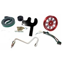 Fleece 5.9L Cummins Dual Pump Kit w/o Pump - Red Pulley - 03-07 Dodge Cummins