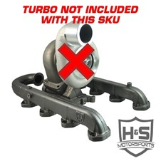 H&S Motorsports Single Turbo Install Kit - No Turbo (Raw Steel Pipe Finish) - 11-15 Ford 6.7L Powerstroke - 122003