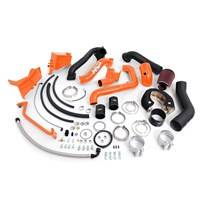 HSP - Duramax LB7 - Over Stock Twin Kit - No Turbo - Factory Battery Location - Orange