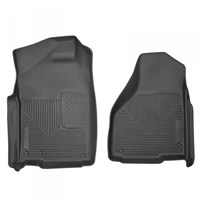 Husky Liner X-Act Contour Floor Liners - FRONT LINERS (BLACK) - 03-09 Dodge Cummins, All Cabs | 10-16 Dodge Cummins Standard Cab