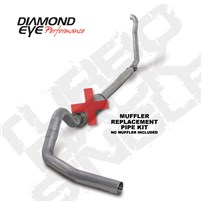 Diamond Eye Muffler Replacement Kit (ALUMINIZED) Turbo Back (Off-Road) Single 4