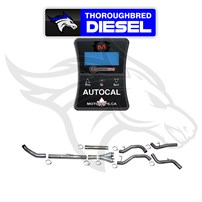 MotorOps AutoCal W/ Flo Pro 4'' Turbo Back Dual No Muff for 07.5-09 Cummins